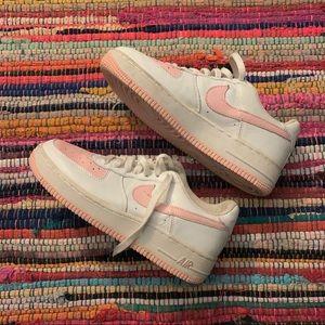 vintage y2k 2004 nike air force 1 pink and white